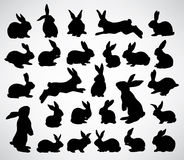 Silhouettes de lapin illustration libre de droits