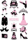 Silhouettes de mariage illustration stock