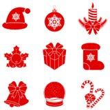 Silhouettes de Noël de vecteur. Photos stock