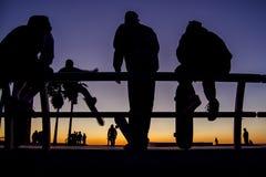 Silhouettes de patineur Images stock