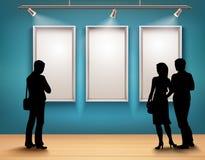 Silhouettes de personnes dans la galerie illustration de vecteur