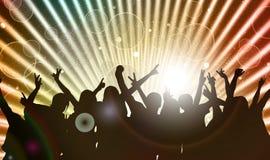 Silhouettes de personnes de danse Photo stock