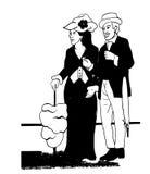 Silhouettes de personnes de vintage illustration libre de droits