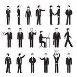 Silhouettes de peuples d'affaires Photos stock