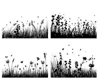 Silhouettes de pré illustration stock