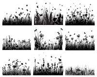 Silhouettes de pré Photographie stock libre de droits