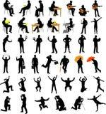 Silhouettes de ramassage de gens illustration de vecteur