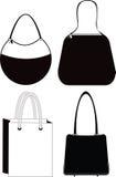 Silhouettes de sac de la mode des femmes illustration libre de droits