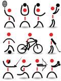 Silhouettes de sport Photographie stock