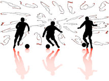 Silhouettes de sport Photo libre de droits