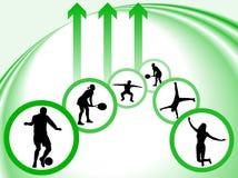 Silhouettes de sport Image stock