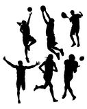 Silhouettes de sports Photographie stock