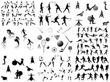 Silhouettes de sports illustration de vecteur