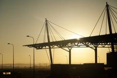 Les géométries d'aéroport d'aube Photos stock
