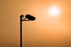 Silhouettes de télévision en circuit fermé Images libres de droits