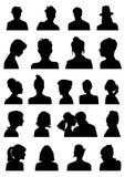 Silhouettes de têtes Photos stock