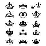 Silhouettes de vecteur de couronnes illustration libre de droits