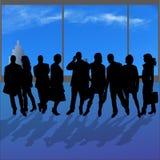 Silhouettes de vecteur de diverses personnes Photographie stock libre de droits