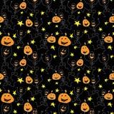 Silhouettes de vecteur pour Halloween Dirigez la configuration sans joint illustration stock