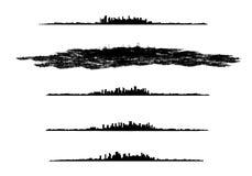 Silhouettes de ville Images stock