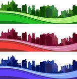 Silhouettes de ville Image stock