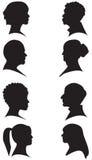 Silhouettes de visage illustration libre de droits