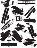 Silhouettes de vol de Wright illustration stock