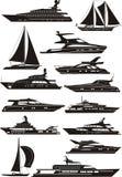 silhouettes de yacht Photo libre de droits