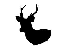 Silhouettes of Deer head Royalty Free Stock Photography