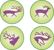 Silhouettes of deer Stock Images