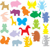 Silhouettes des animaux Photographie stock libre de droits
