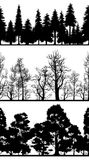 Silhouettes des arbres Photo stock