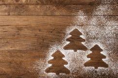 Silhouettes des arbres de Noël Image stock