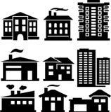 Silhouettes des bâtiments Images libres de droits