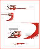 Silhouettes des constructeurs. Logo Images stock