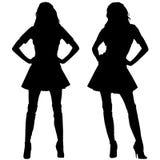 Silhouettes des femmes de mode Image stock