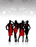 Silhouettes des filles Photographie stock libre de droits