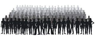 Silhouettes des gens Photographie stock libre de droits