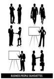 Silhouettes des gens d'affaires sur le fond blanc illustration libre de droits