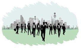 Silhouettes des hommes d'affaires Photographie stock libre de droits