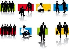 Silhouettes des hommes d'affaires Image stock