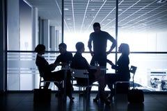 Silhouettes des hommes d'affaires Image libre de droits