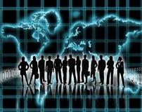 Silhouettes des hommes et des femmes dans les affaires illustration libre de droits