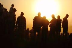 Silhouettes des personnes Photos libres de droits