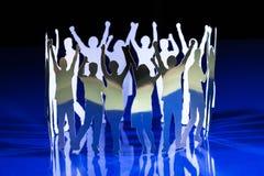 Silhouettes des personnes sorties photos libres de droits