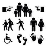 Silhouettes des personnes sur le fond blanc Image libre de droits