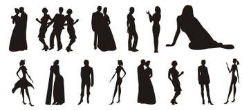Silhouettes des peuples Image stock