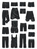 Silhouettes des shorts des femmes Images stock