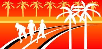 Silhouettes des sportifs Image libre de droits