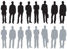 Silhouettes - Different kinds of men Stock Image